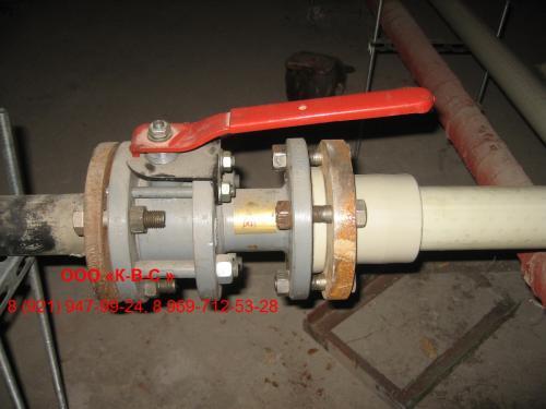 установка шарового крана на полипропиленовых трубах